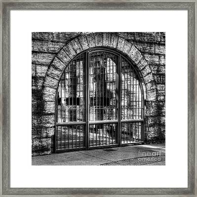 Steel And Stone 2 Bw Framed Print