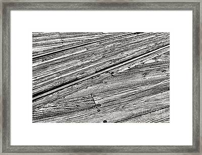 Steel And Wood Framed Print