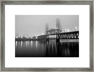 Steel Bridge Framed Print by Brian Bonham