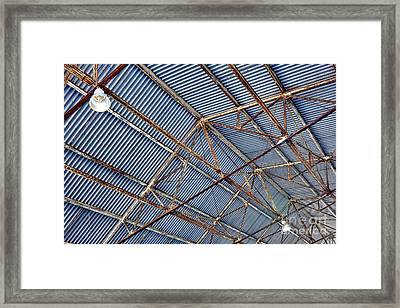 Steel Ceiling Framed Print by Olivier Le Queinec