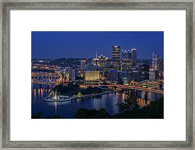 Steel City Glow Framed Print by Rick Berk