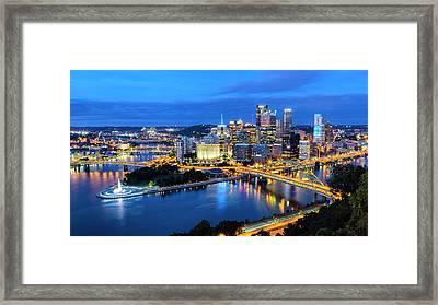 Steel City Nights #1 Framed Print