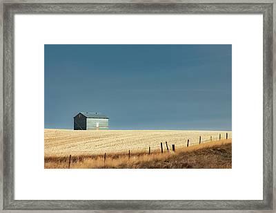 Steel Clad Shed Framed Print by Todd Klassy