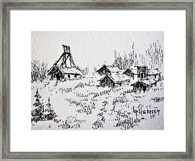 Steel Creek Mine Montana Framed Print by Kevin Heaney