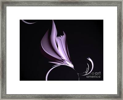 Steel Magnolia Abstract. Framed Print