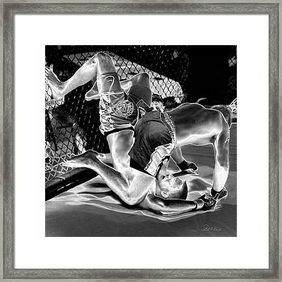 Steel Men Fighting 7 Framed Print by Frederic A Reinecke