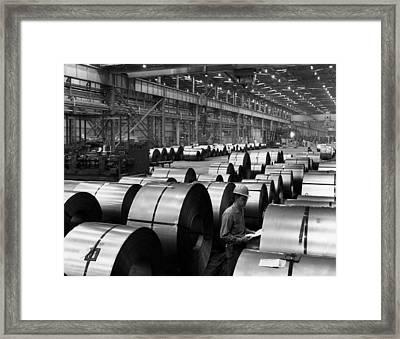 Steel Mill Framed Print by Everett