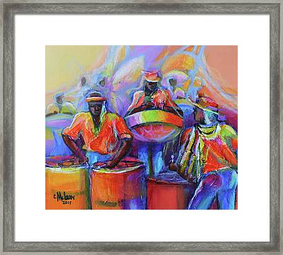 Steel Pan Carnival Framed Print