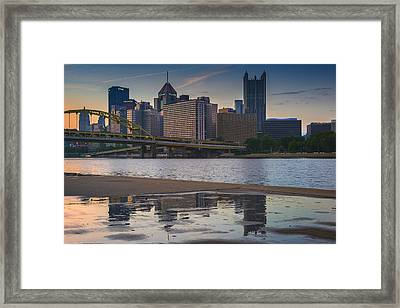 Steel Reflections Framed Print