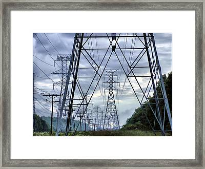 Framed Print featuring the photograph Steel Soldiers Marching To The Sea by Brian Wallace