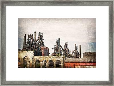 Steel Stacks  Framed Print