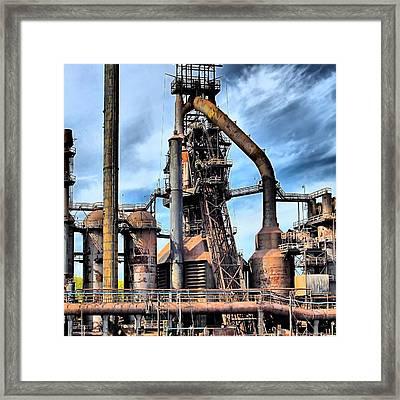 Steel Stacks Bethlehem Pa. Framed Print