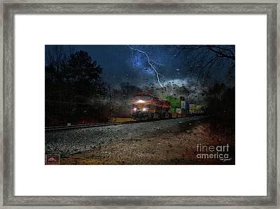 Steel Strike Framed Print