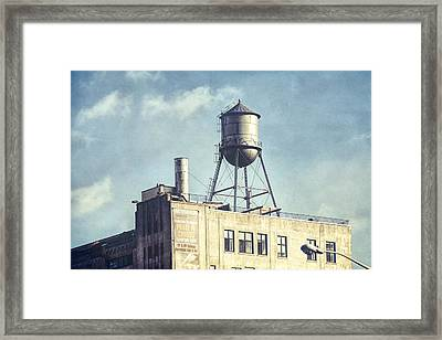 Framed Print featuring the photograph Steel Water Tower, Brooklyn New York by Gary Heller