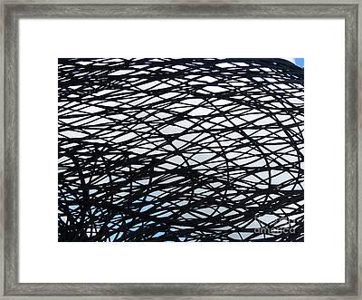 Steel Web Framed Print by Carlos Amaro