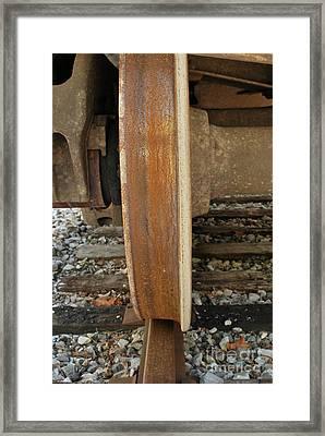 Steel Wheel Framed Print by Randy Bodkins