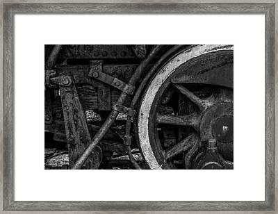 Steel Wheels In Monochrome Framed Print