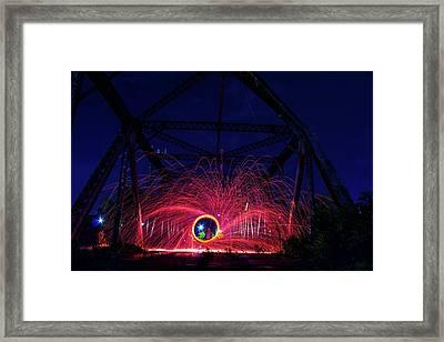 Steel Wool Spinner Framed Print