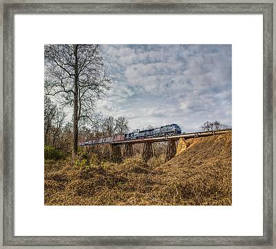 Steele Creek Trestle Panorama Framed Print
