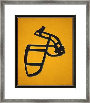 Steelers Face Mask Framed Print by Joe Hamilton