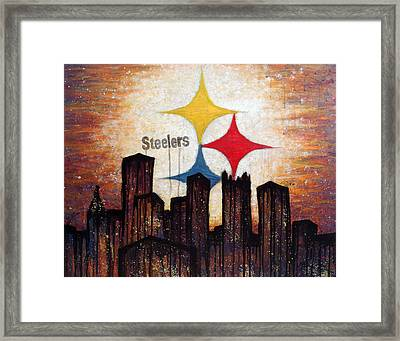 Steelers. Framed Print