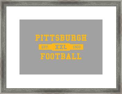 Steelers Retro Shirt Framed Print by Joe Hamilton