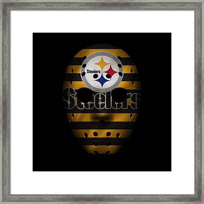 Steelers War Mask 2 Framed Print