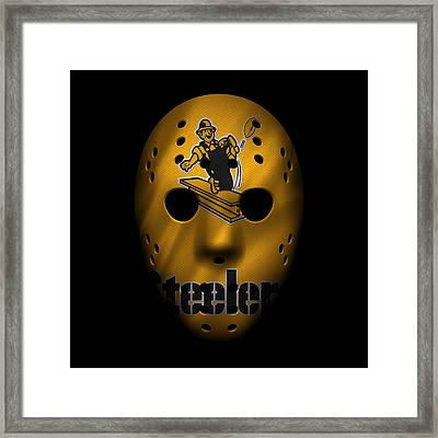 Steelers War Mask 3 Framed Print by Joe Hamilton