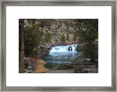 Steelhead Falls Framed Print