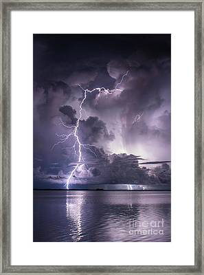 Steely Blue 2 Framed Print