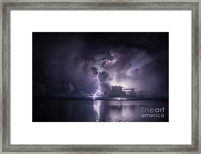 Steely Blue Framed Print