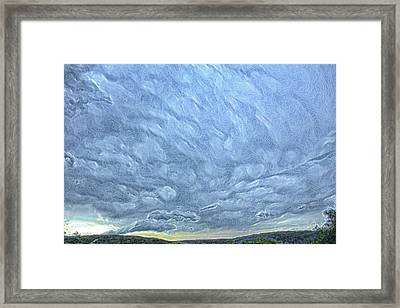 Steely Blue Sky Framed Print