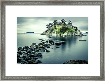 Steely Day At Whytecliff Framed Print