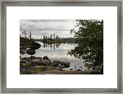 Framed Print featuring the photograph Steely Day by Larry Ricker