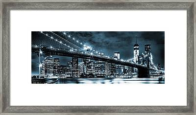 Steely Skyline Framed Print