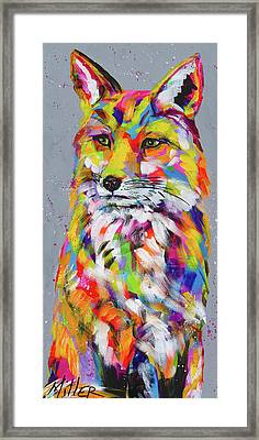Steely Framed Print by Tracy Miller
