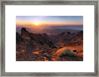 Steens View Framed Print by Leland D Howard
