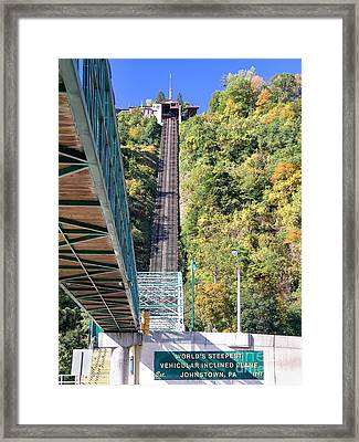 Steep Johnstown Incline Framed Print