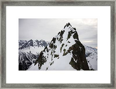 Steep Mountain Chamonix France Framed Print by Pierre Leclerc Photography