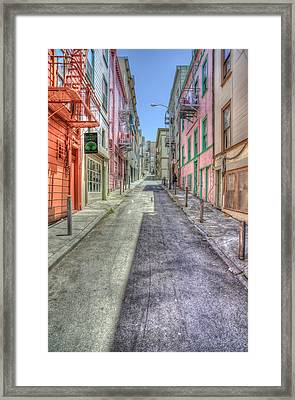 Steep Street Framed Print by Scott Norris
