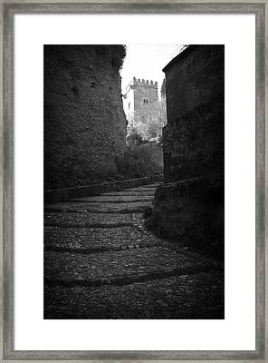 Steep Walk To The Tower Framed Print by Jez C Self