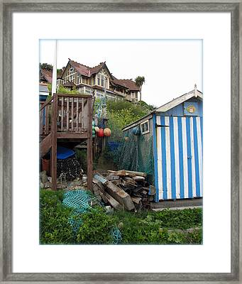Steephill Cove Framed Print by Carla Parris