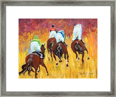 Steeple Chase Framed Print by Pauline Ross