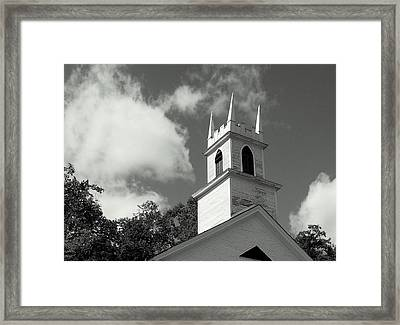 Steeple In The Clouds Framed Print by Lois Lepisto