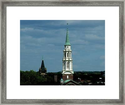 Steeple Framed Print by Lisa Jayne Konopka