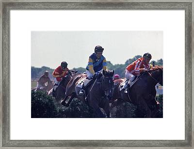 Steeplechase - 3 Framed Print