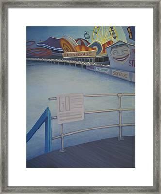 Steeplechase Pier Framed Print