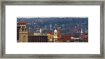 Steeples Of Dubuque Framed Print