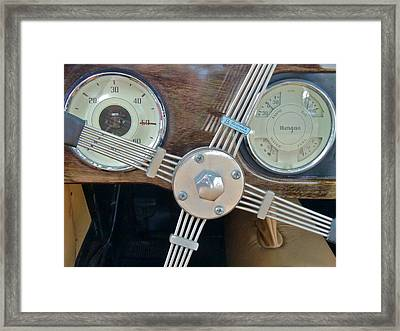 Steering Framed Print by Richard Mansfield