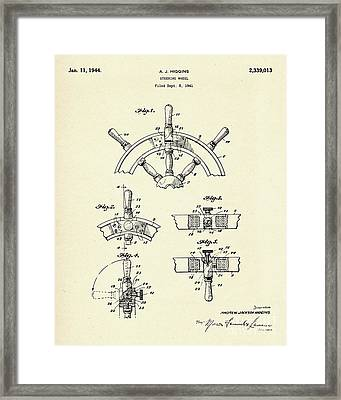 Steering Wheel-1944 Framed Print